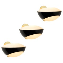 Rare Large 1960s Max Ingrand '1963' Sconces for Fontana Arte