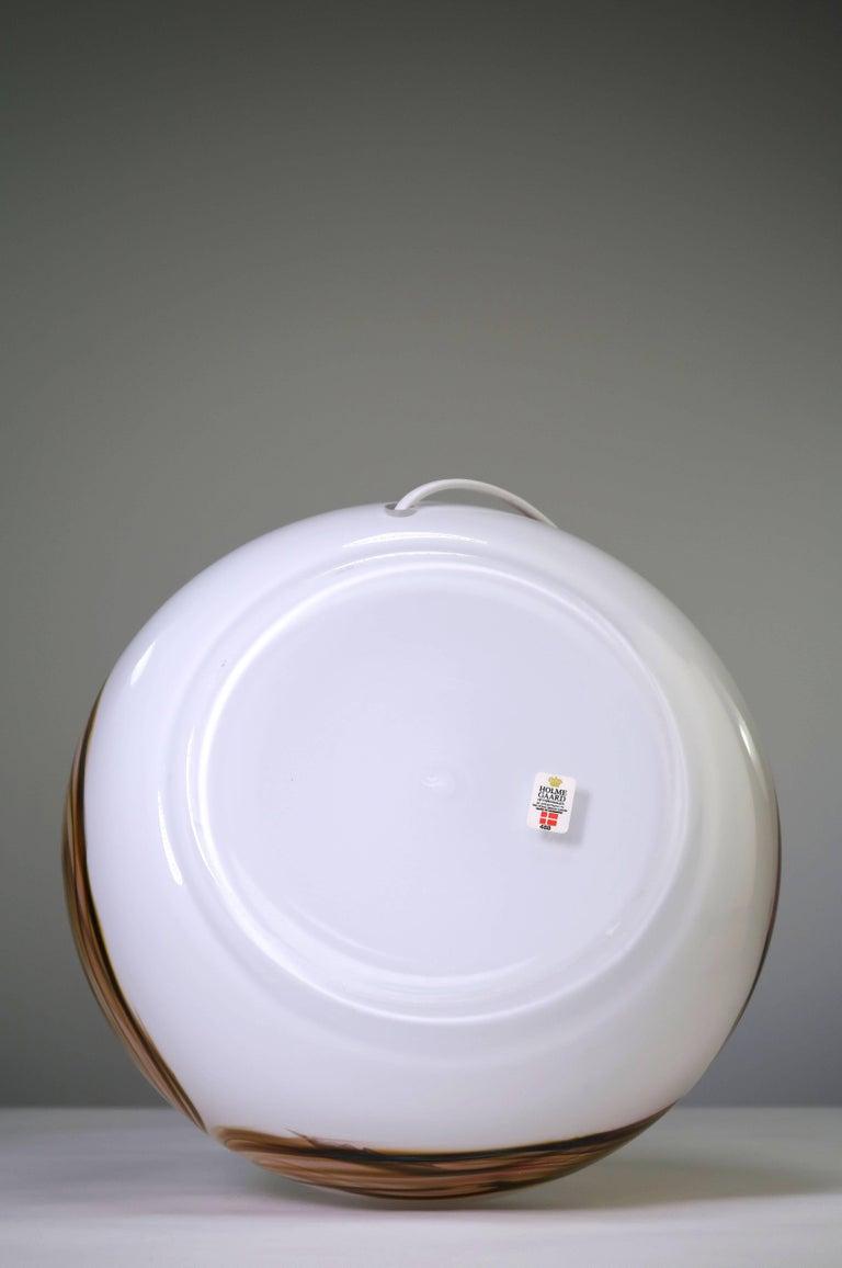 Unique Per Lutken for Holmegaard Danish Modern White, Pink Glass Lamp, 1970s For Sale 2