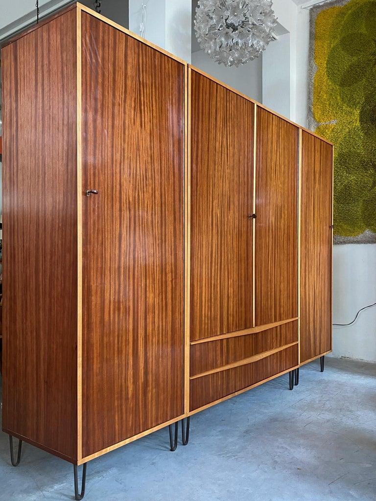 Mid-Century Modern Rare Large Alfred Hendrickx 1950s Wardrobe for Belform, Belgium