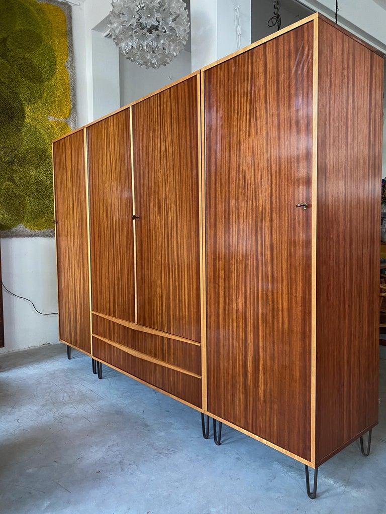 Belgian Rare Large Alfred Hendrickx 1950s Wardrobe for Belform, Belgium