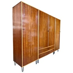 Rare Large Alfred Hendrickx 1950s Wardrobe for Belform, Belgium