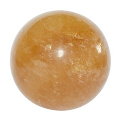 Rare Large Amber Quartz Rock Crystal Ball