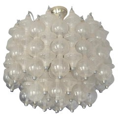 Rare Large and Bright 1970s Murano Seguso Ball Chandelier by OTT International