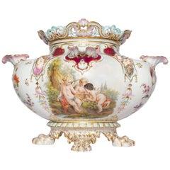 Rare Large Berlin KPM Pictorial Porcelain Vase