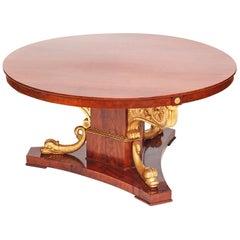 "Rare Large Centre Table, Late Empire, Provinens ""Sperlingholm Castle, Sweden"