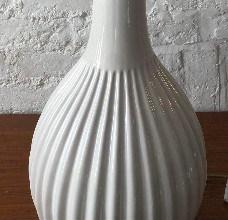 Mid-Century Modern Rare Large Danish Glazed Ceramic Lamp by Michael Andersen & Sons Danish, 1950s For Sale