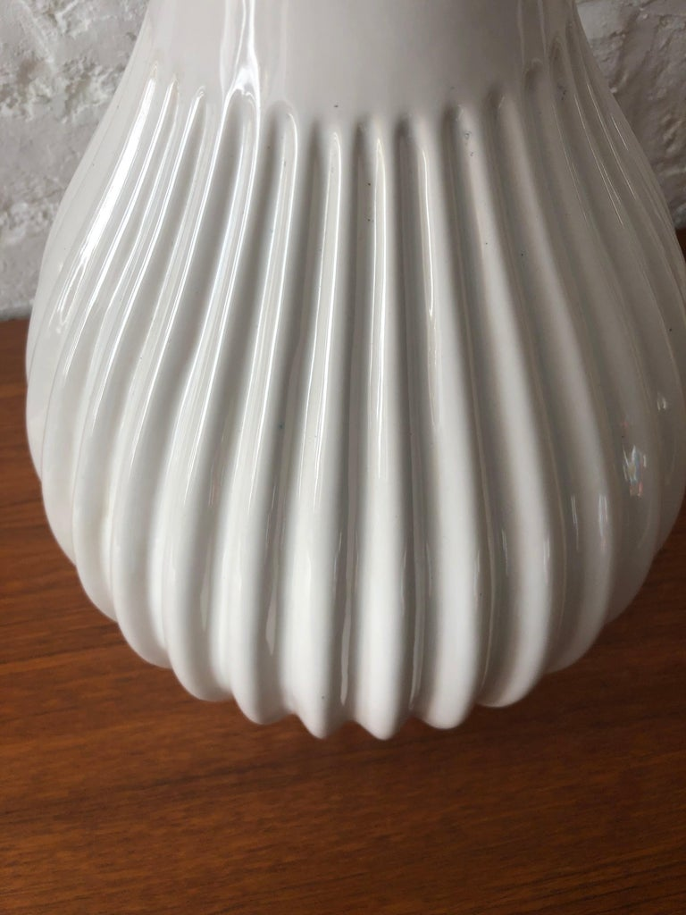 Rare Large Danish Glazed Ceramic Lamp by Michael Andersen & Sons Danish, 1950s In Good Condition For Sale In Richmond, Surrey