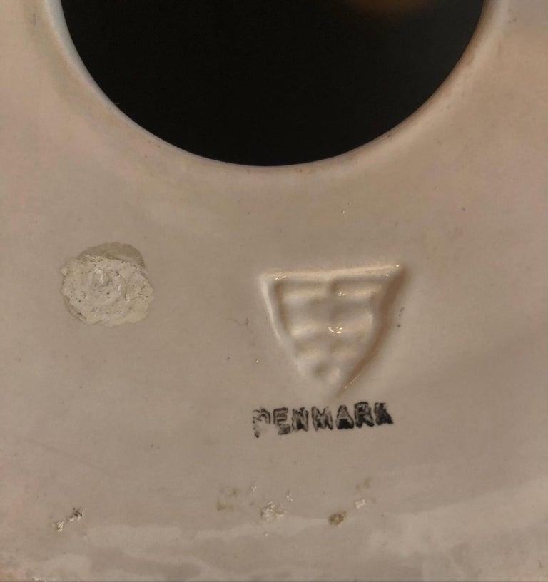 Rare Large Danish Glazed Ceramic Lamp by Michael Andersen & Sons Danish, 1950s For Sale 4