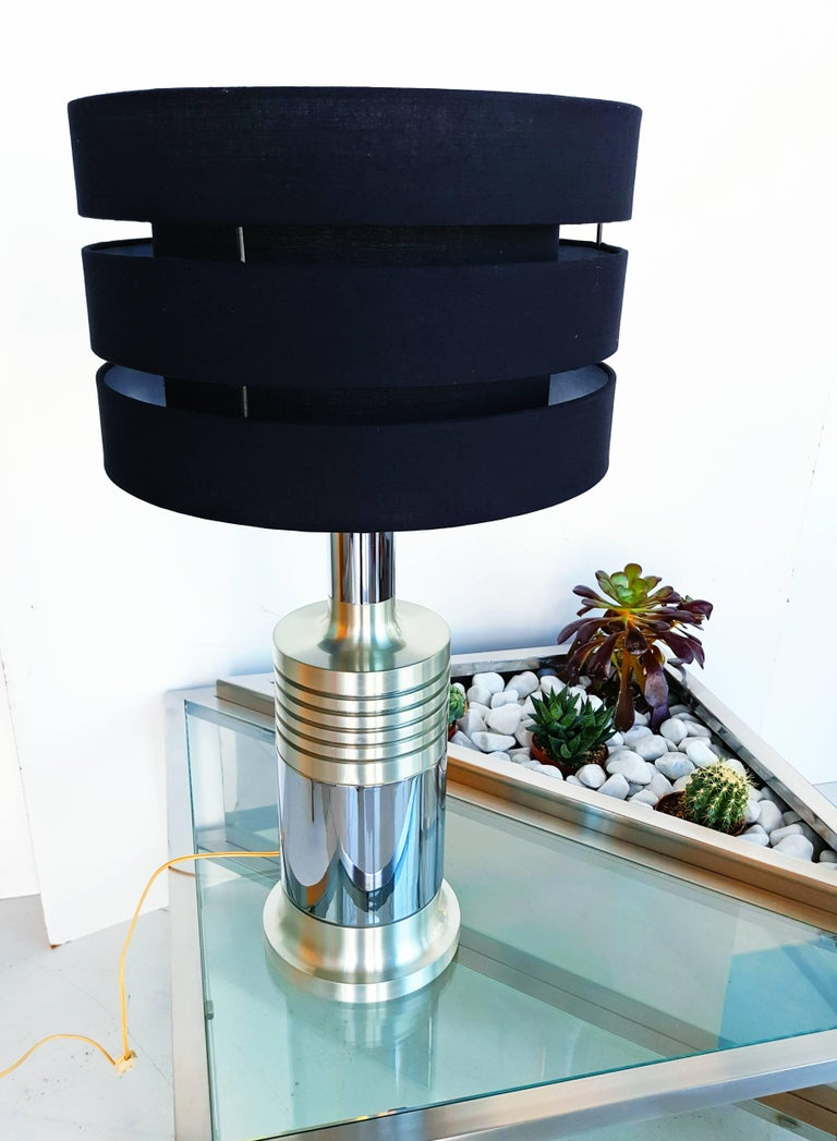 Rare Large French Table Lamp, circa 1970s In Excellent Condition For Sale In L'Escala, ES