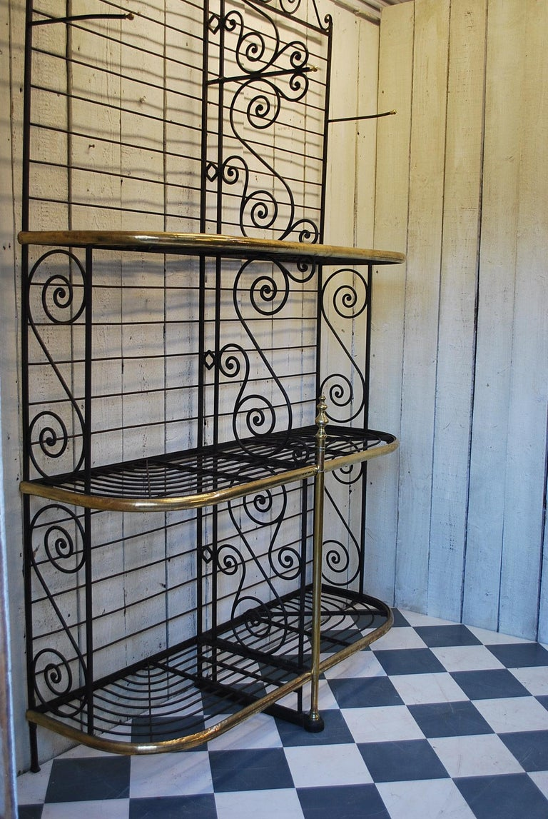 French Provincial Rare Large metal Antique French Bakers shop display Stand / Dresser rack For Sale