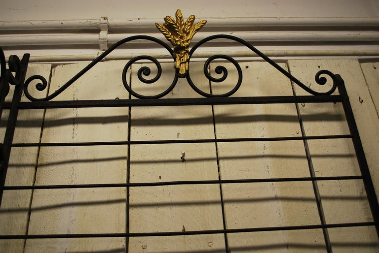 Iron Rare Large metal Antique French Bakers shop display Stand / Dresser rack For Sale
