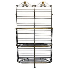 Rare Large metal Antique French Bakers shop display Stand / Dresser rack