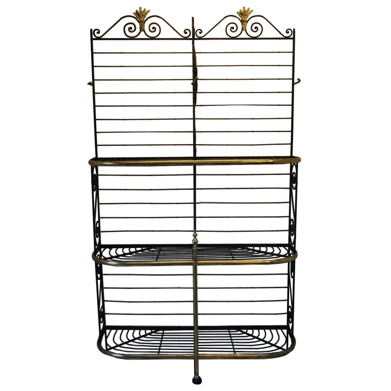 Rare Large metal Antique French Bakers shop display Stand / Dresser rack For Sale