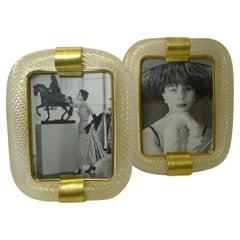 Rare Large Pair Murano / Venini Torchon Picture Frames, c.1950