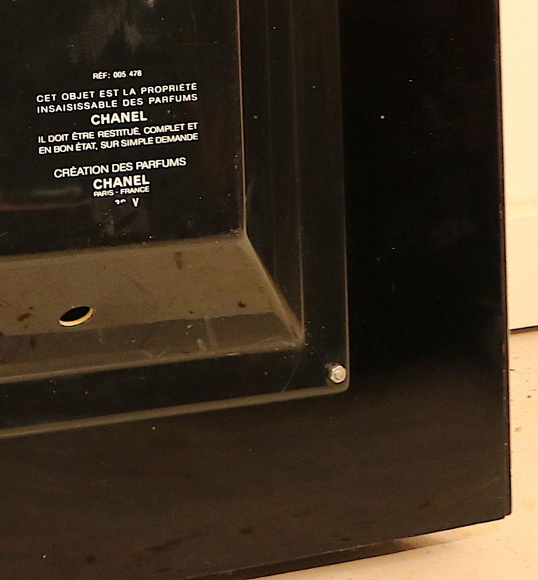 Veneer Rare Large Retail Advertisement Display with Light for Chanel No. 5 For Sale