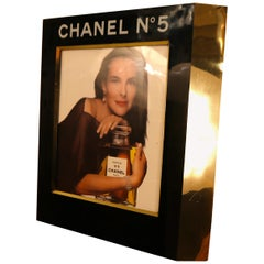 Rare Large Retail Advertisement Display with Light for Chanel No. 5