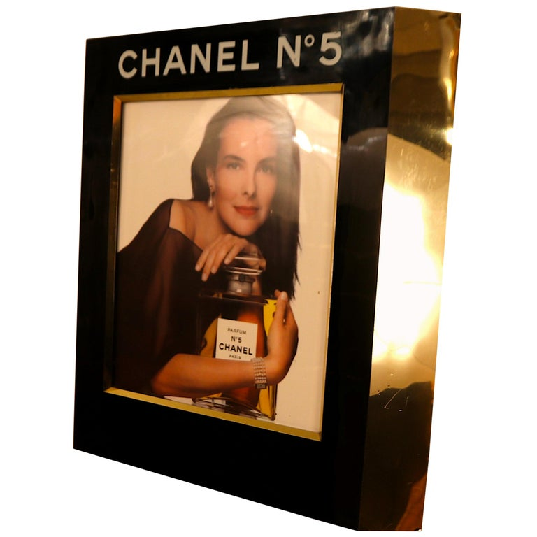 Rare Large Retail Advertisement Display with Light for Chanel No. 5 For Sale