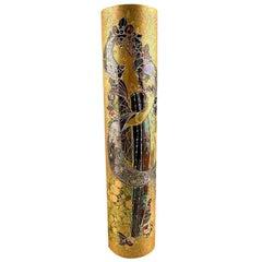 Rare Large Rosenthal Hand Painted Gilt Vase by Bjorn Winnblad, 1960