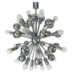 Rare Large Space Age Chrome Chandelier by Cosack Leuchten, 1970s, Germany