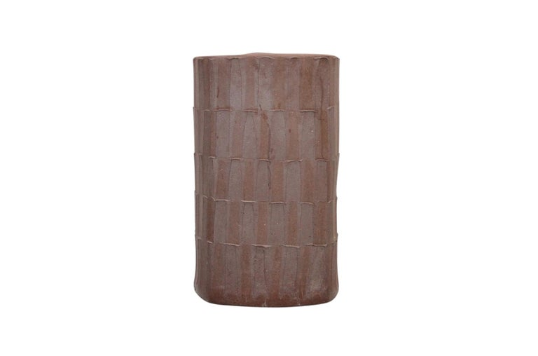 Rare large stoneware umbrella stand designed by David Cressey for the Architectural Pottery pro or artisan series.