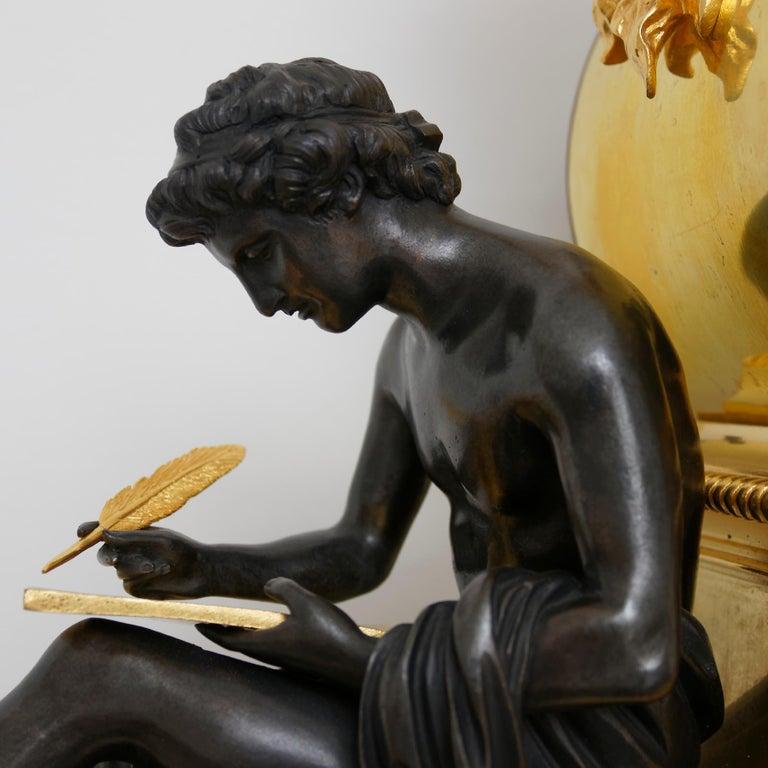 Bronze Rare Late 18th Century Neoclassical Louis XVI Ormolu Mantel Clock For Sale