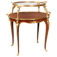 Rare Late 19th Century Gilt Bronze Mounted Parquetry Tea Table by François Linke