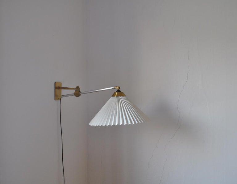 Rare Le Klint Wall Lamp Designed by Hvidt & Mølgaard in 1963 For Sale 6