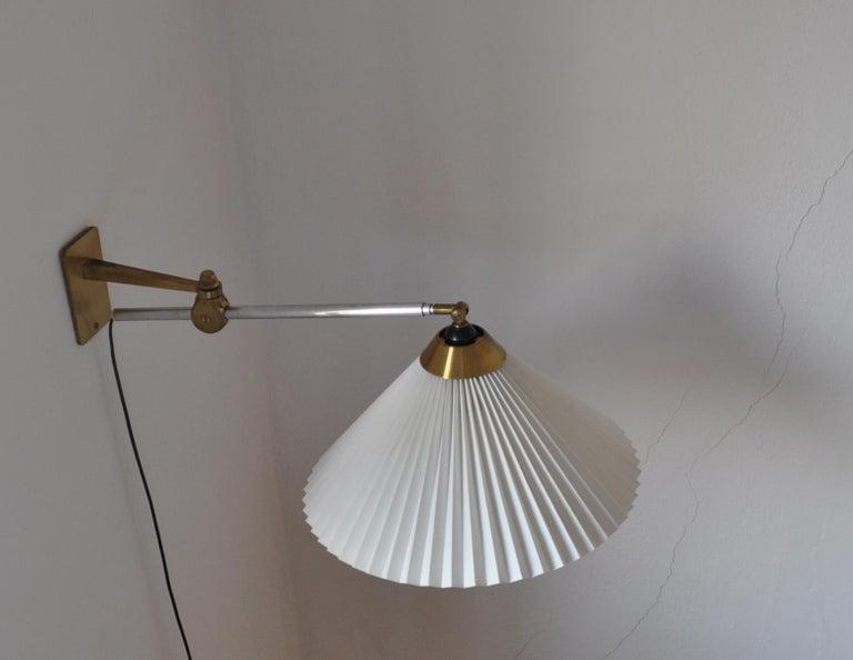 Rare Le Klint Wall Lamp Designed by Hvidt & Mølgaard in 1963 For Sale 7