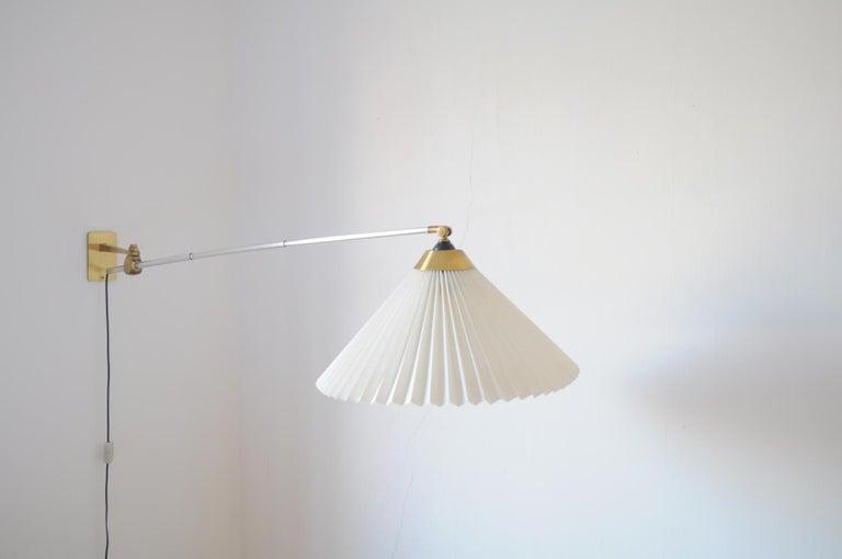 Scandinavian Modern Rare Le Klint Wall Lamp Designed by Hvidt & Mølgaard in 1963 For Sale