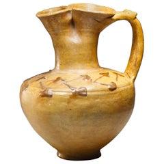 Rare Lead-Glazed Oinochoe Roman 1st or 4th Century A.D.
