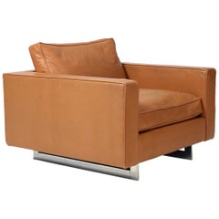 Rare Leather Chair by Jens Risom