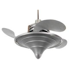 Rare Levelle 'Birdwing' Ornate Retractable Blade Fan