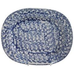 Rare Lg. Design Sponge Ware Serving Platter