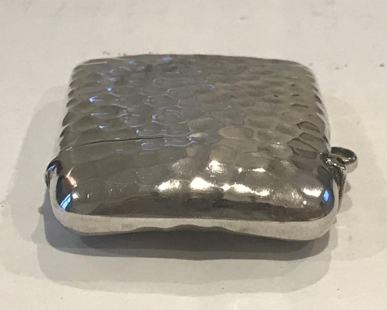 Rare Liberty London 1899 Solid Sterling Silver Vesta Case William Hair Haseler For Sale 7