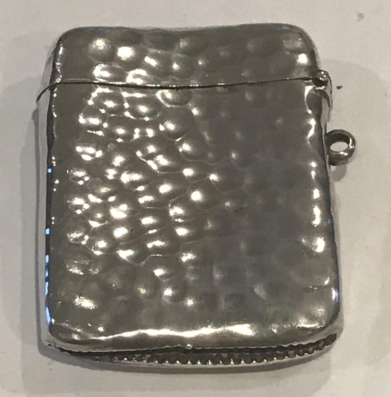 Rare Liberty London 1899 Solid Sterling Silver Vesta Case William Hair Haseler For Sale 11