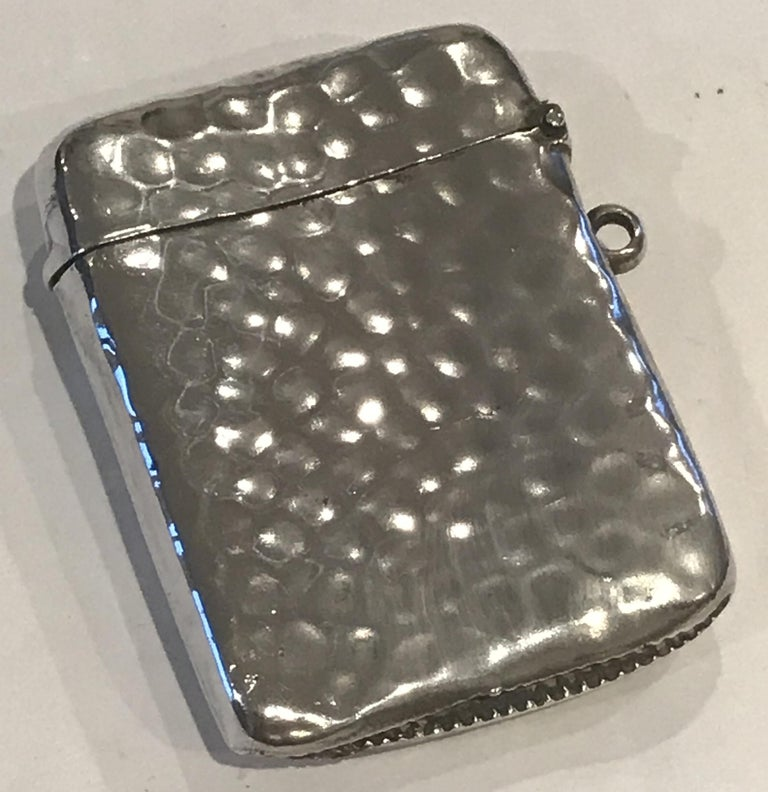 Rare Liberty London 1899 Solid Sterling Silver Vesta Case William Hair Haseler For Sale 13