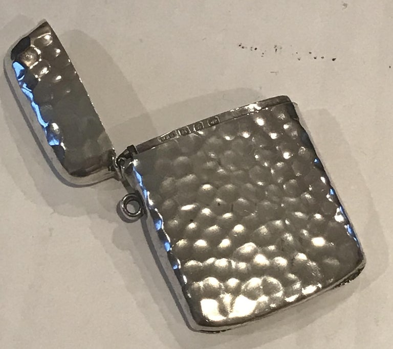 Rare Liberty London 1899 Solid Sterling Silver Vesta Case William Hair Haseler For Sale 14