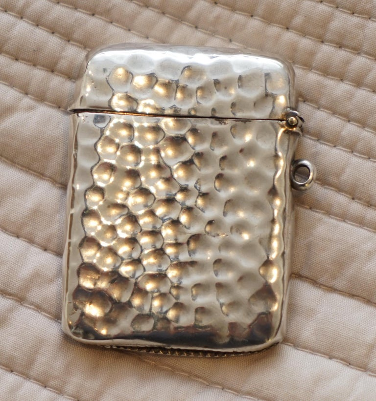 Rare Liberty London 1899 Solid Sterling Silver Vesta Case William Hair Haseler In Good Condition For Sale In , Pulborough