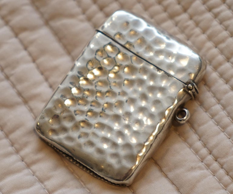 Rare Liberty London 1899 Solid Sterling Silver Vesta Case William Hair Haseler For Sale 1