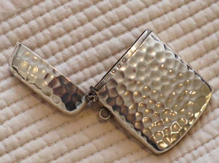 Rare Liberty London 1899 Solid Sterling Silver Vesta Case William Hair Haseler For Sale 3