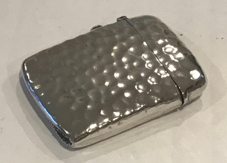 Rare Liberty London 1899 Solid Sterling Silver Vesta Case William Hair Haseler For Sale 5