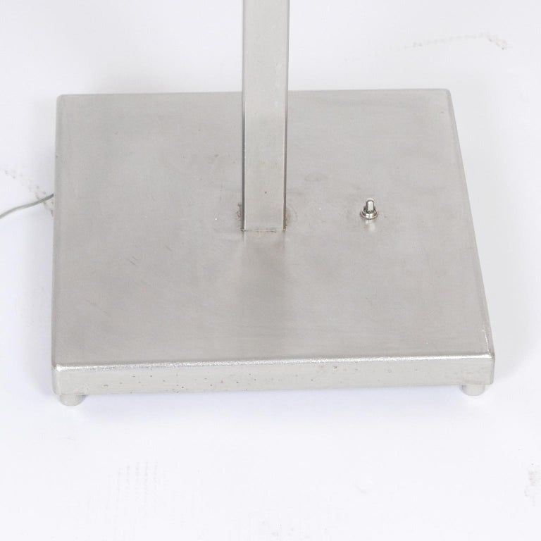 Rare Limited Production Nickel Tommi Parzinger Floor Lamp for Lightolier For Sale 5