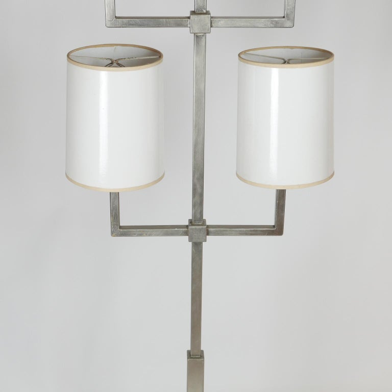 Rare Limited Production Nickel Tommi Parzinger Floor Lamp for Lightolier For Sale 6