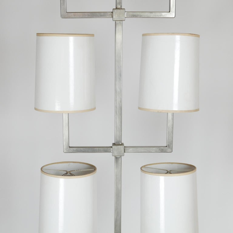 Rare Limited Production Nickel Tommi Parzinger Floor Lamp for Lightolier For Sale 7