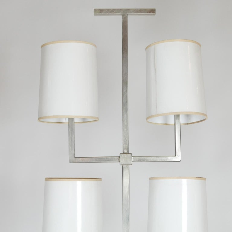 Rare Limited Production Nickel Tommi Parzinger Floor Lamp for Lightolier For Sale 8