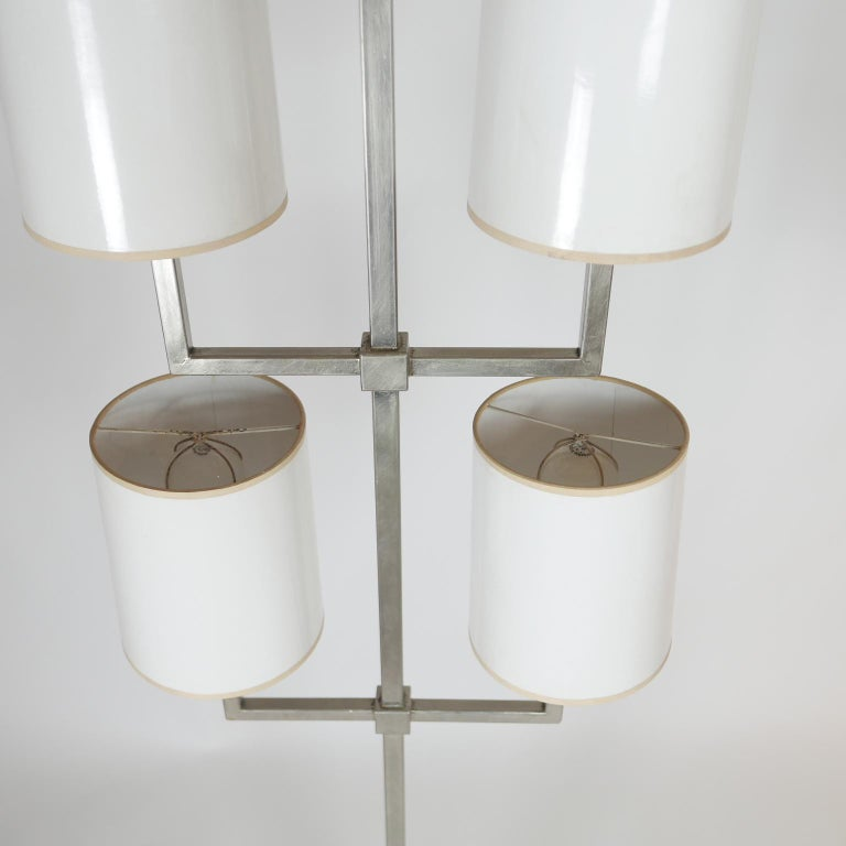 American Rare Limited Production Nickel Tommi Parzinger Floor Lamp for Lightolier For Sale