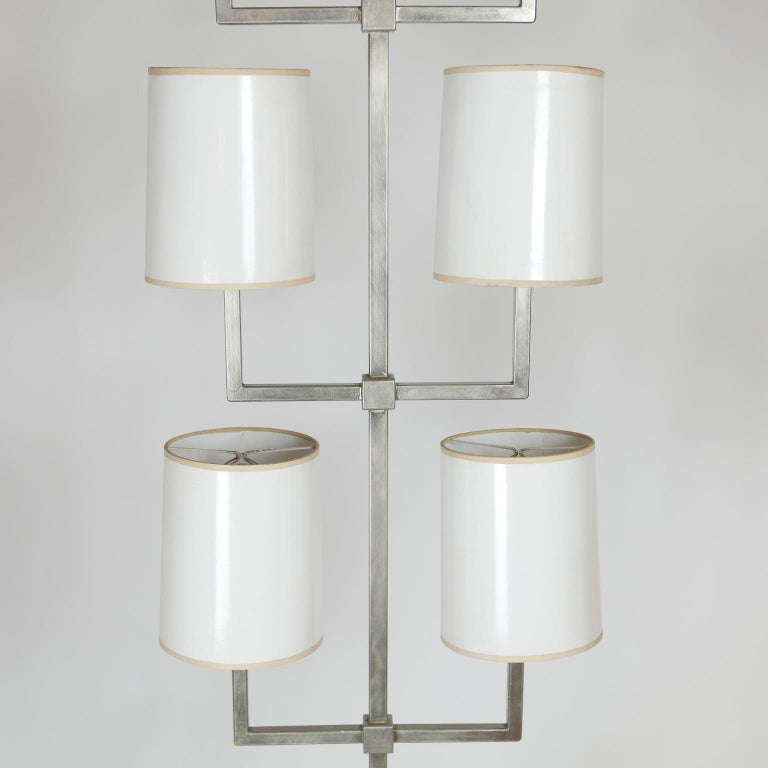 Rare Limited Production Nickel Tommi Parzinger Floor Lamp for Lightolier For Sale 3