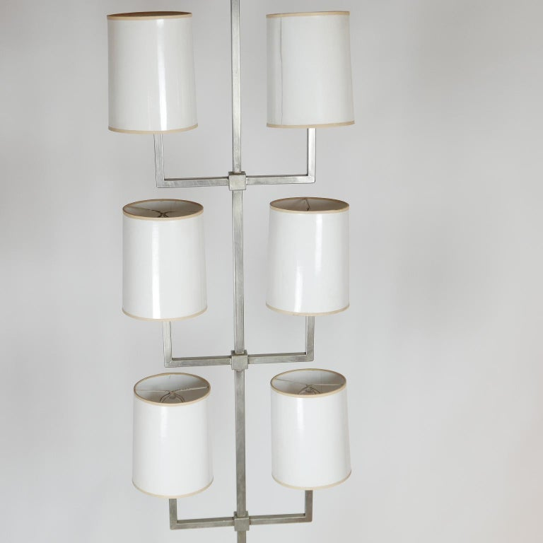 Rare Limited Production Nickel Tommi Parzinger Floor Lamp for Lightolier For Sale 4
