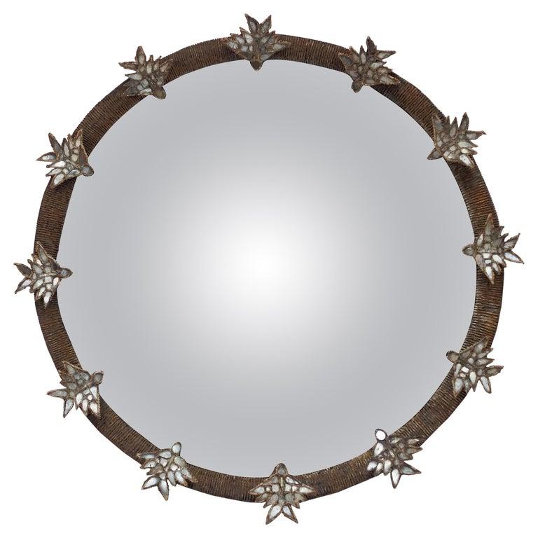 """Rare Line Vautrin """"Aux Alouettes"""" Mirror, circa 1955 For Sale"""