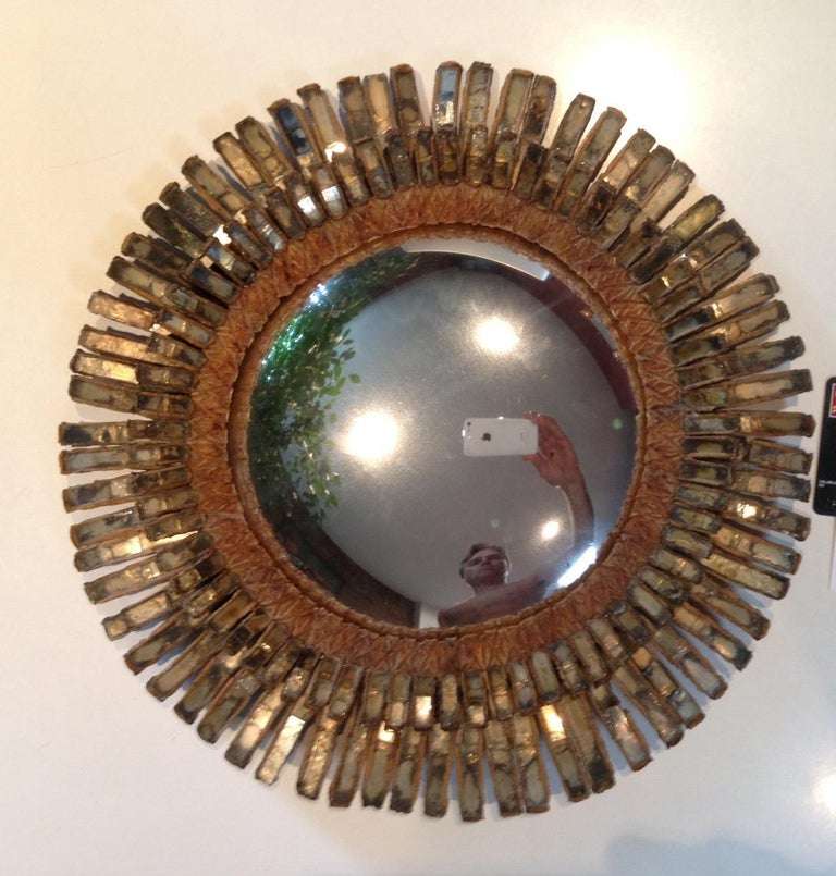 Rare Line Vautrin Mirror In Good Condition In Montreal, QC